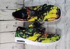 Nike SB Stefan Janoski Max Premium Men's Size 10 Yellow Green Rasta (807497-703)