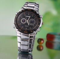 ROSRA Herren Armbanduhr mit Edelstahl Armband Analog RW036