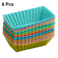 Baking Molds Reusable Square Silicone Cupcake Molds Moulds for Home