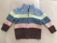 New Tea Collection Thick Sweater Cardigan Size 3-6 Month Cotton