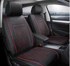Komplettsatz Schonbezüge Schwarz / Rot Komfort Sitzbezüge Kunstleder Elegant für