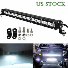 36W CREE LED Light Bar Ultra Slim Spot Work Driving Lamp Off-road Jeep Truck US