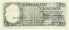 GENERALITAT DE CATALUÑA. 2,50 PESETAS DE 1936 (MBC) SERIE A (NEGRO)