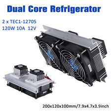 2x TEC1-12705 Thermoelectric Peltier Refrigeration Cooling System +Power Supply