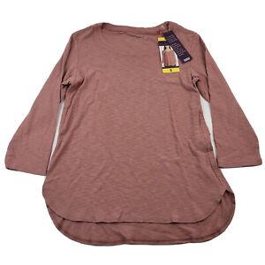 NEW Gloria Vanderbilt Women's 3/4 Sleeve Slub Tee Select Size Color