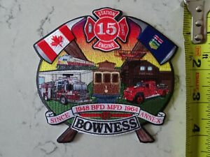 CALGARY FIRE BOWNESS STATION 15 HISTORIC PATCH ALBERTA AB CANADA CANADIAN