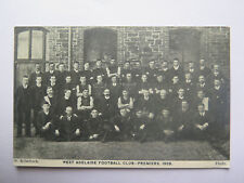 POSTCARD WEST ADELAIDE FOOTBALL CLUB PREMIERS SOUTH AUSTRALIAN 1908 RARE