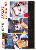 1980-81 Topps Hockey Card NM Set Break 133-264 Pick From List