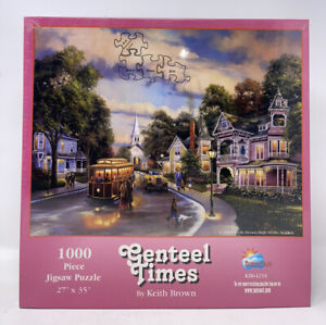 Vintage GENTEEL TIMES Jigsaw Puzzle 1000 Pieces — Keith Brown RARE NEW SEALED