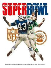 NY Jets vs Baltimore Colts  *POSTER*  - Super Bowl III Championship 1969 Namath