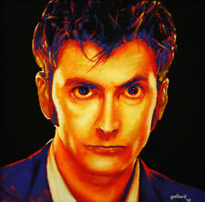 David Tennant 10th DOCTOR WHO by pollard 12x12 signed art print british scifi