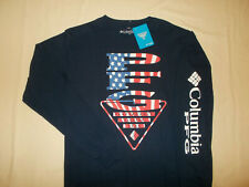 NWT COLUMBIA PFG LONG SLEEVE NAVY BLUE FISHING T-SHIRT MENS XXL