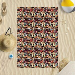 "58""x39"" Elvis Presley Colourful Montage Microfibre Beach Towel pool sun bathing"