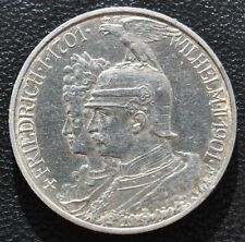 1901 Germany German 2 Marks Mark Silver Coin XF