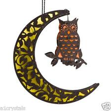 Hanging Mystical Owl and Yellow Moon which All Light Up with 7 Colours (LEDs)