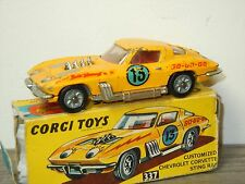 Chevrolet Corvette Sting Ray Customized - Corgi Toys 337 England in Box *30621