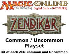 MTGO Magic Online ZEN Zendikar Playset 724 Cards 4x Common/Uncommon/Basic Land