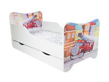 Children Bed Firetruck, Junior Bed with mattress 140x70cm + drawer
