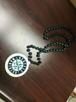 MLB Seattle Mariners Baseball Team Logo Mardi Gras Bead Necklace