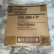 Case Of Job Select Vinyl Lightly Powdered Gloves X Large 400case 100box
