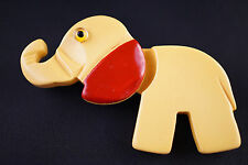 Martha Sleeper Attributed Articulated 2-Pc Bakelite Elephant Pin w Movable Head