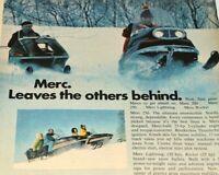 Mercury Snowmobile Vintage Print Ad 1970 Merc Lightning Rocket 200 250 Snow Play