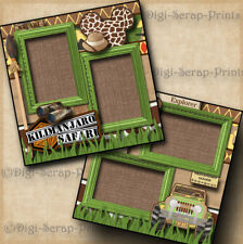 DISNEY KILIMANJARO SAFARI ~ animal kingdom 2 premade scrapbook pages DIGISCRAP