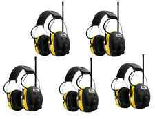 (5) PELTOR WORKTUNES Digital AM FM MP3 Radio HEADPHONES Hearing Ear PROTECTION
