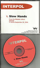 INTERPOL Slow hands 1 TRK ULTRA RARE USA PROMO Radio DJ CD single 2004 matador