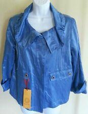 NWT $74 Ruby Rd. Positano Women's Blue Azure 3/4 Sleeve Jacket Size: 10