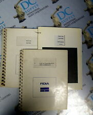 FIDIA CNC COPYING & LIST OF PARAMETERS AND COMMANDS MANUAL LOT OF 3