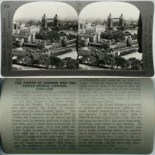 Keystone Stereoview The TOWER of LONDON & Bridge, ENGLAND From 600/1200 Card Set