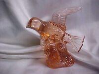 Mosser Glass Peach Bird in Flight Figurine