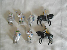 Hilco plastic knights, crusader figures England lot of 7pcs