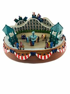 Vintage LIBERTY FALLS COLLECTOR CLUB Theme Park Roller Coaster Music Box  AH999