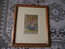 FRAMED & GLAZED VTG M D SPOONER PRINT A FAIR LITTLE GIRL FROM POEMS FOR CHILDREN