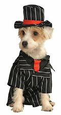 Mob Gangster Dog Costume - LARGE - Jacket/Tie, Hat - Halloween - Rubie's - NWT