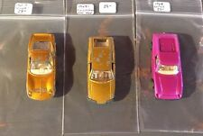 1968-69 Vintage Matchbox Superfast Series -lamborghini ,Bmc 1800 ,Lotus -See Pic