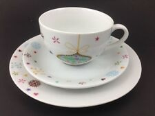 Creative Tops Christmas Holiday Afternoon Tea Cup Saucer & Plate 3 piece set Oop