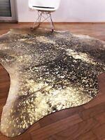 Kuhfell Rinderfell Metallic Braun, Beige und Gold - ca. 215cm x 190cm, NEU, RUG