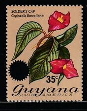 Guyana 1976 Sc # 234 Orchids Surcharged (35c/60c) Mnh (55508)