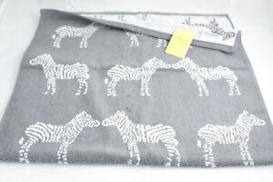 Fenella Smith ~ ZEBRA ~ hand guest towel BNWT grey 100% cotton