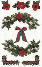 Mrs. Grossman's Giant Stickers - Photo Christmas Greens - Roses - 2 Strips