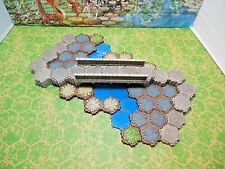 Heroscape Bridge and Road Mini Set with Blue Opaque Water - 72 Total Hexes