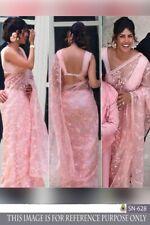 Priyanka Pink Net Sari Saree Wedding Party Wear Lehenga Choli Indian Bollywood