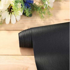 Black Leather Grain Vinyl Car Wrap Sticker Protective Film Self-adhesive 50cm