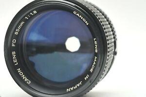 Canon FD 85mm f/1.8 Portrait MF Lens