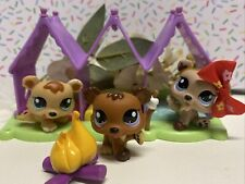 Littlest Pet Shop #1554 #1555 #1556 Petriplets Bear Triplets Complete Set LPS