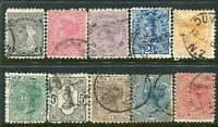 NEW ZEALAND....  1882  second sideface  set  used.... cv $225nzd
