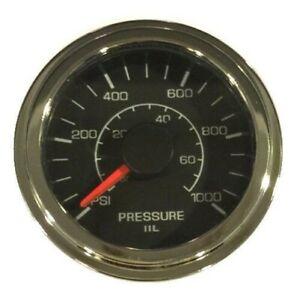 """Pressure Transducer Gauge 1000 psi, 2-1/16""""/52mm, analog voltage input,LED light"""